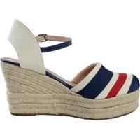 0f5d85358 Sandália Azul Marinho Bege feminina | Shoes4you