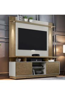 Rack Blumenau Com Painel Para Tv Até 60 Polegadas Fortaleza Avelã E Off White 182 Cm