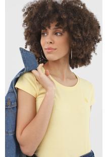 Camiseta Polo Wear Lisa Amarela - Amarelo - Feminino - Algodã£O - Dafiti