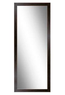 Espelho De Chão Com Suporte 142X48Cm Moldura Tabaco Euroquadros