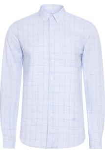 Camisa Masculina Linho London - Azul