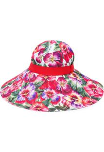 Dolce & Gabbana Chapéu Com Aba Larga - Vermelho