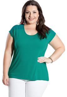 Blusa Plus Size Miss Masy Plus Mpf41203-35187 Verde