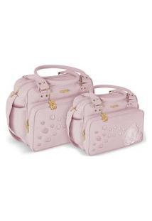 Kit Bolsa Griff Bebê Rosa Kit Maternidade Enxoval Menina 20Ol11