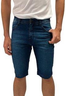 Bermuda Jeans Macaw Boreal Masculino - Masculino-Azul