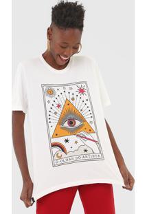 Camiseta Cantão Olhar Do Artista Off-White