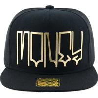 Boné Aba Reta Young Money Snapback Money Gold - Unissex 4c093601384