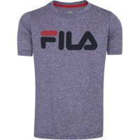 Camiseta Fila Dna Mescla Feminina - Infantil - Azul Esc Mescla 28c73449c7059