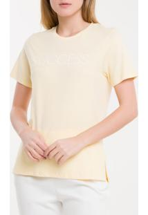 Camiseta Baby Look New Year Success - Amarelo Claro - Pp