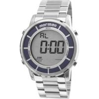 57b687376f3 Relógio Mormaii Masculino Digital - Unissex-Prata