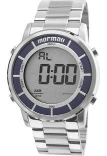 Relógio Mormaii Masculino Digital - Unissex-Prata
