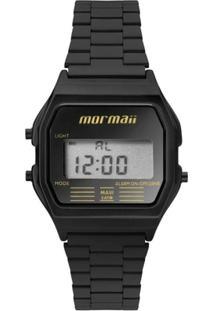 Relógio Feminino Mormaii Vintage Digital Mojh02Aj/ - Unissex-Preto
