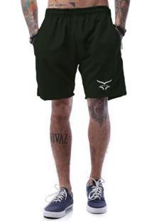 Bermuda Tactel Cellos Freedom Premium - Masculino-Verde Militar