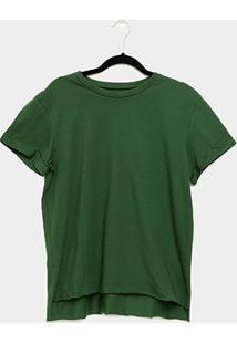 Camiseta Colcci Básica Feminina - Feminino-Verde Escuro