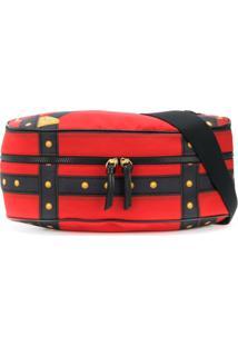 Versace Bondage V-Bold Print Belt Bag - Preto