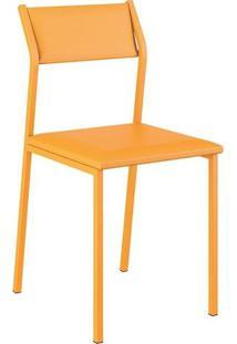 Cadeira Carraro Móveis Betim Em Napa – Amarelo Ouro