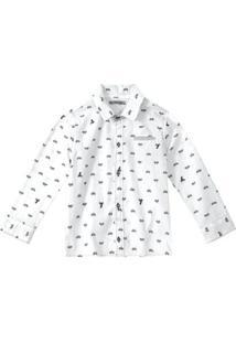 Camisa Bebê Tigor T. Tigre Masculina - Masculino-Branco
