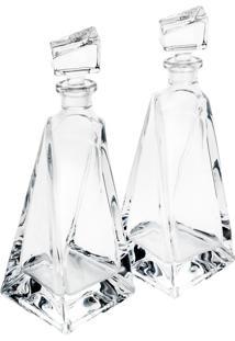 Conjunto 2 Garrafas 600Ml De Cristal Ecológico Lover Bohemia
