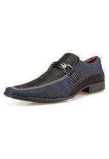 Sapato Social Sapatofranca Jeans Sem Cadarço Com Fivela Super Confortável
