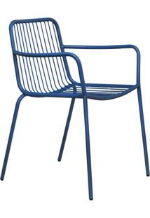 Cadeira De Jardim Grid Ii Azul