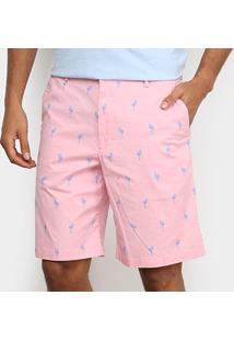 Bermuda Sarja Izod Flamingo Masculina - Masculino-Rosa Claro