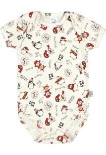 Body Bebê Meninoribana - Masculino-Branco+Vermelho