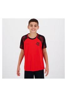 Camisa Flamengo Part Infantil Vermelha