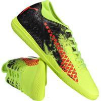 80b0f5359c Chuteira Puma Future 18.4 It Futsal Amarela E Preta