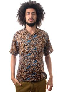 Camisa Andy Roll Clothing Cashflow Marrom.