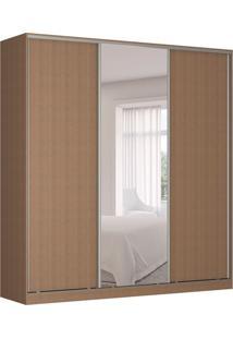 Guarda-Roupa Casal Com Espelho Tunas V 3 Pt 3 Gv Marrom
