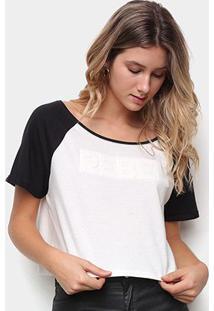 Camiseta Drezzup Estampa Eva Feminina - Feminino-Off White+Preto