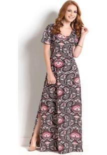 Vestidos longos com manga
