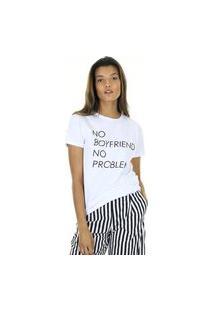 Camiseta T-Shirt Com Silk Localizado Aha