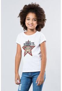 Camiseta Infantil Preserve Reserva Mini Feminina - Feminino-Branco