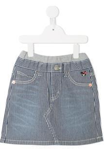 Miki House Saia Jeans - Azul