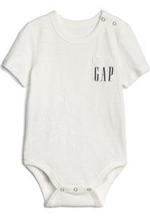 Body Gap Infantil Bolso Logo Off-White