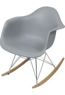 Cadeira Eames Com Braco Base Balanco Cinza Fosco - 43637 Sun House