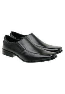 Sapato Social Masculino Couro Macio Confortável Clássico Preto 45 Preto
