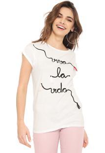 Camiseta Lez A Lez Viva La Vida Branca - Branco - Feminino - Algodã£O - Dafiti