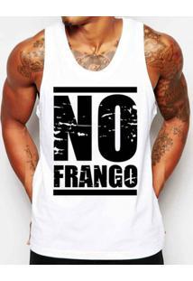 8de868264 Camiseta Regata Criativa Urbana Frases No Frango Academia - Masculino-Branco