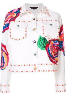 Manish Arora Jaqueta Jeans Com Aplicações - Branco