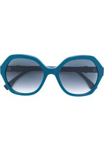 111a0d5c87242 Fendi Eyewear Óculos De Sol Oversized - Azul