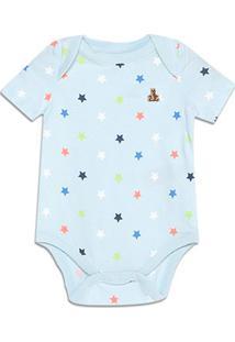 Body Bebê Gap Malha Estampado Masculino - Masculino-Azul Claro