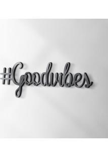 Palavra Decorativa Goodvibes Preta