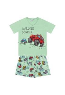 Pijama Com Camiseta E Bermuda Carros- Fkn Sleep We