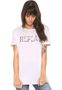 Camiseta Replay Glitter Rosa