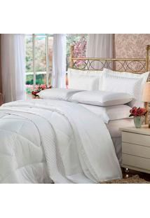 Cobreleito Queen Soft Touch Branco