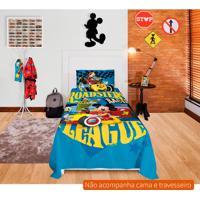 b90c1fa063 Jogo De Cama Infantil Com 3 Peças Mickey Aventura Sobre Rodas Algodão Azul
