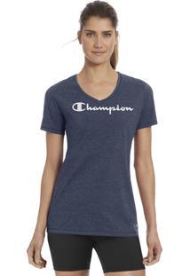 Camiseta Champion V-Neck Graphic G006 - Azul Marinho - Champion