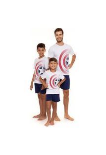 Pijama Infantil Capitáo América Original